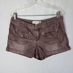 Roxy Distressed Plum Corduroy Shorts Size 11